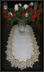 Rose Lace Table Runner Dresser Scarf 35…