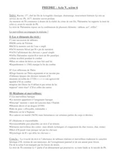 Phedre Resume Par by Fiche De Lecture Et R 233 Sum 233 De Livre Sur Youscribe