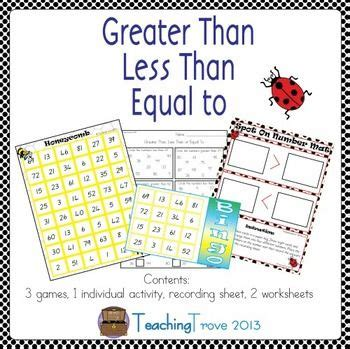 greater     equal  math centers