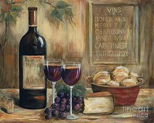 Wine For Two Painting by Marilyn Dunlap