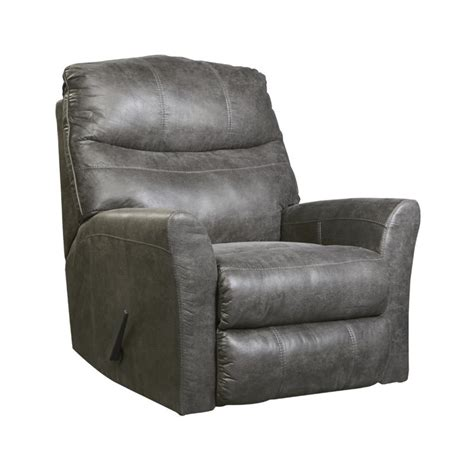 tullos faux leather rocker recliner in slate 6920225