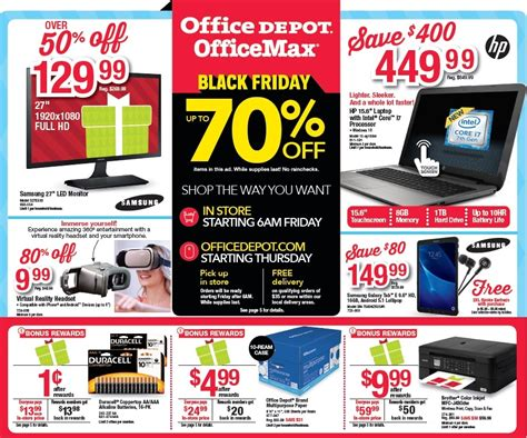 black friday  office depot officemax ad scan