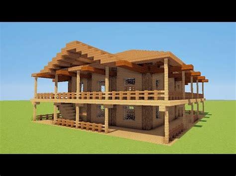 minecraft tuto comment faire une maison de luxe de plage