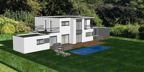 au bureau villefranche maison contemporaine au nord de lyon avec toit terrasse