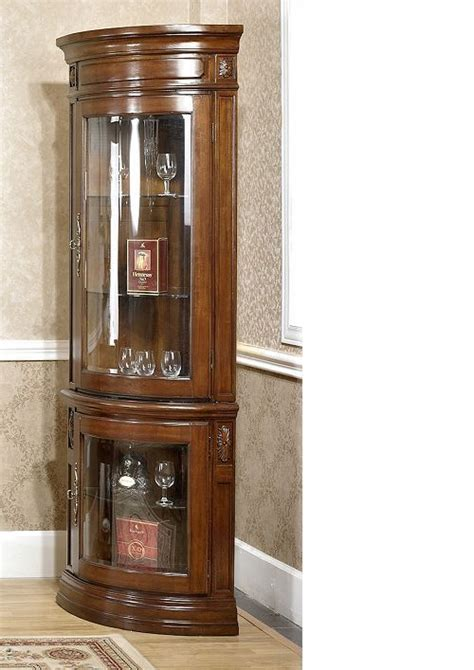 american style solid wood corner cabinet display cabinet