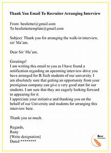 Fax Cover Letter Sample Word Thank You Email To Recruiter Sample Examples