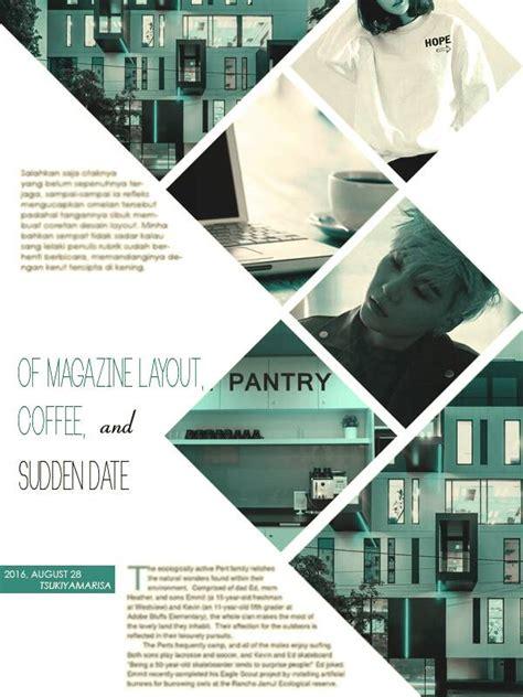 vignette  magazine layout coffee  sudden date
