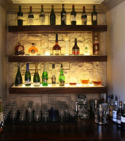 Bar Wall Shelves by Cool Liquor Display With Wall Background Bar