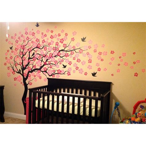 The great collection of wallpaper for walls designs cherries for desktop, laptop and mobiles. Pop Decors Cherry Blossom Tree Wall Decal & Reviews   Wayfair