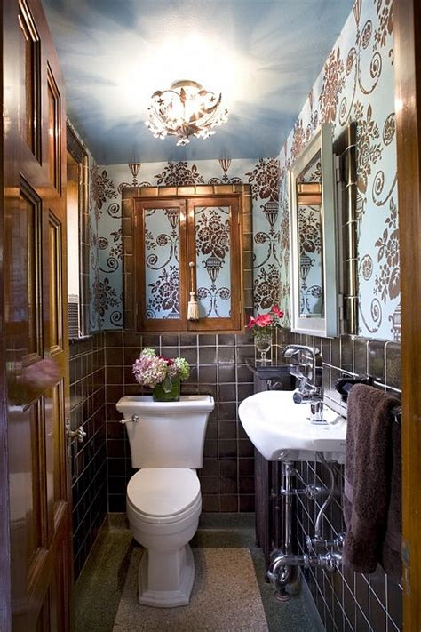 narrow powder room feel inviting  comfortable  ideas