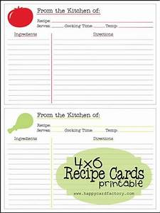 free printable 4x6 recipes cards as seen on With how to print on 4x6 cards