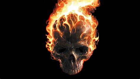 Digital Skull Wallpaper by Cool Flaming Skull Wallpapers Wallpaper Cave