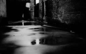 Black Dark Night Streets - WallDevil