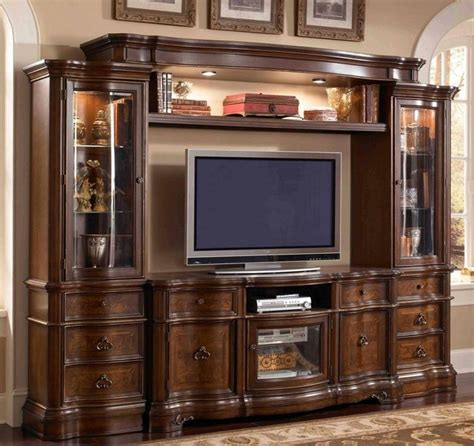 pc florenza ii collection dark wood finish tv
