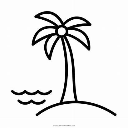 Coloring Island Clipart Islas Isola Colorare Disegni