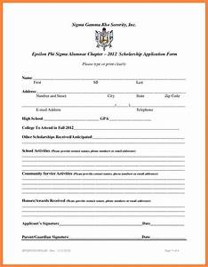 Search results for example of student resume for college for Scholarship forms template