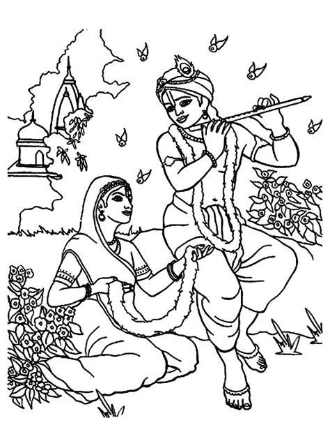 shri krishna coloring pages print coloring