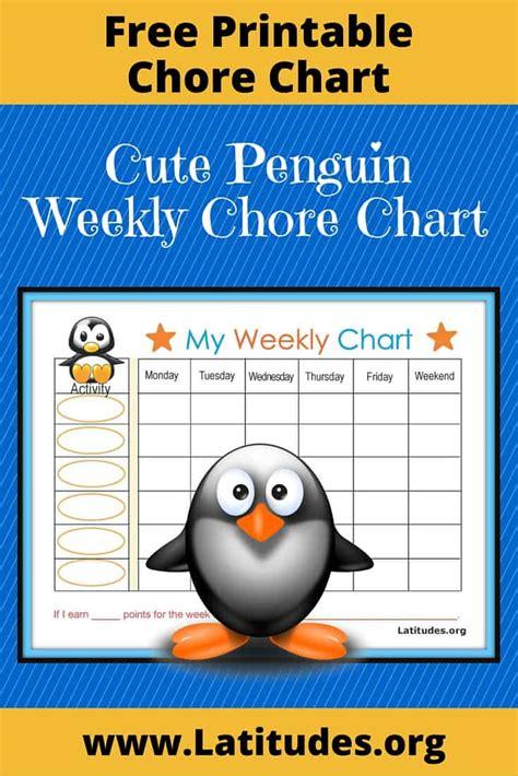 weekly behavior chart baby penguin acn latitudes
