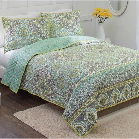 better homes and gardens quilts better homes and gardens arabesque quilt walmart