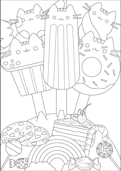 pusheen coloring pages  adults