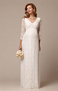 chloe lace maternity wedding gown ivory maternity With wedding dress maternity