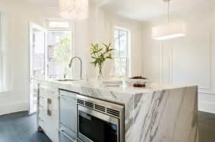 marble kitchen island dishwashers contemporary kitchen miranda interior design
