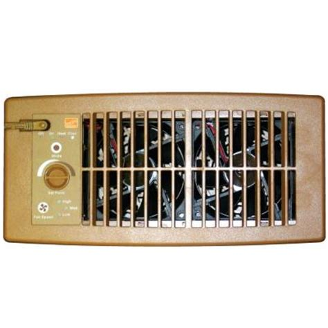 Floor Registers With Fans Home Depot by Suncourt Flush Fit Register Booster Fan In Brown Hc500 B