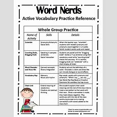 Fourth Grade Flipper Word Nerds Ideas For Vocabulary Practice  Everything Elementary
