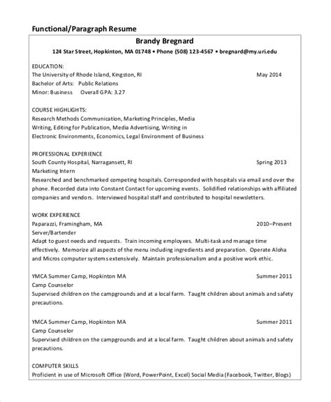 Sle Resume Data Entry by Sle Data Entry Resume 6 Exles In Pdf Word