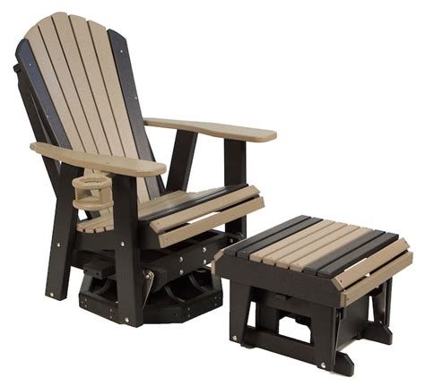 outdoor maintenance free poly furniture gliders 2