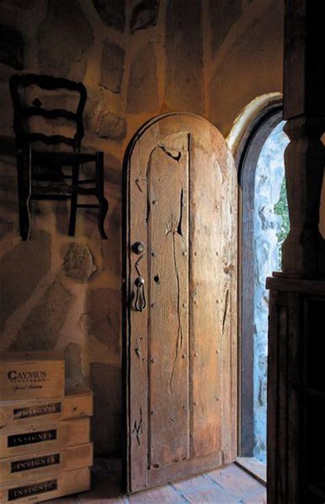 wine cellar entrance crafted   antique mexican door