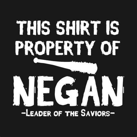 property of negan the walking dead t shirt teepublic
