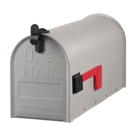 wall mount mailbox shop postmaster 7 in x 9 5 in metal gray post mount