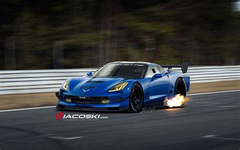 2014 Corvette Stingray Rendered As The C7r Race Car