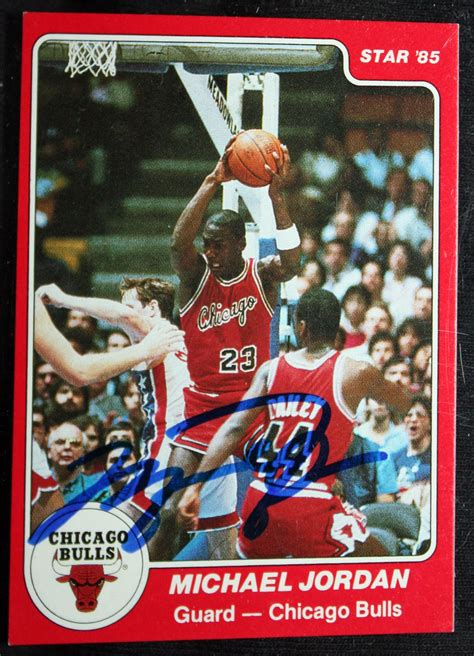Ungraded copies of a 1991 upper deck baseball card showing michael jordan taking batting practice have sold for upwards of $100 in recent days. Lot Detail - Michael Jordan Signed 1985 Star Rookie Card #101 (UDA)
