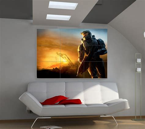 details  halo reach giant wall poster print