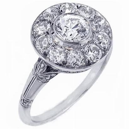Diamond Deco Ring Pampillonia Jewelry Estate Antique
