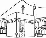 Kaaba Draw Coloring Ramadan Islamic Disimpan Dari Eid sketch template