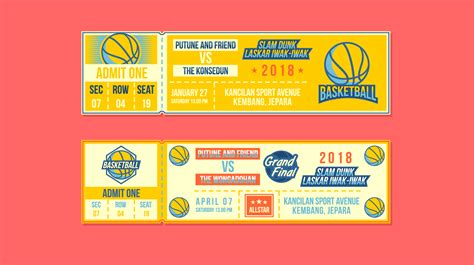basketball event ticket  vector