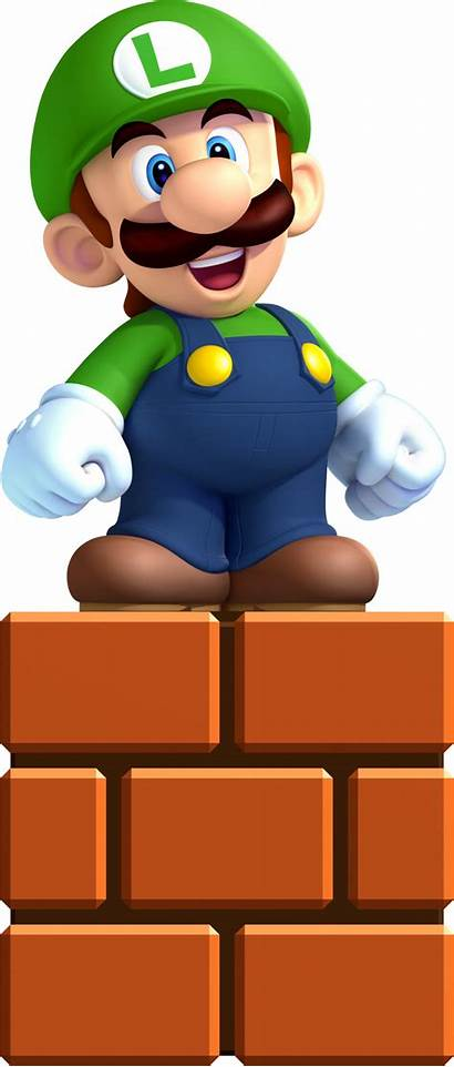 Luigi Mario Transparent Face Bros Nintendo Clipart