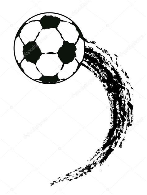 foto de Pallone da calcio volante vettoriale grunge Vettoriali