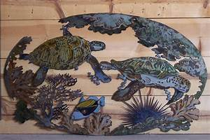 20 choices of sea turtle metal wall art wall art ideas With kitchen colors with white cabinets with sea turtle metal wall art