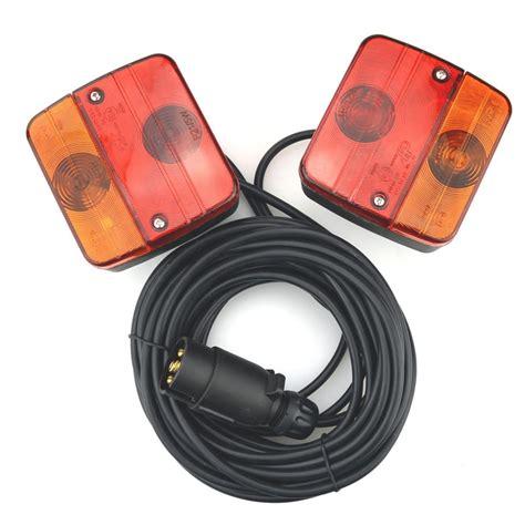 anhänger beleuchtung komplett set pkw anh 228 nger beleuchtung mit magneten stecker 7pol