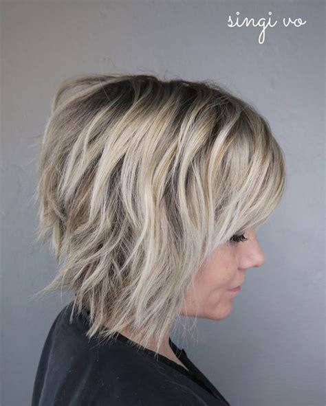 coiffures shag court pour les femmes des coupes de