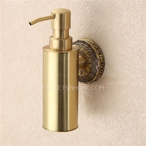 antique kitchen sinks vintage polished brass wall mount soap dispensers 1283
