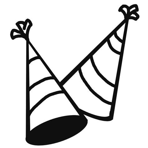 birthday hat clipart black and white clip confetti b w celebration