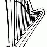 Harp Coloring sketch template