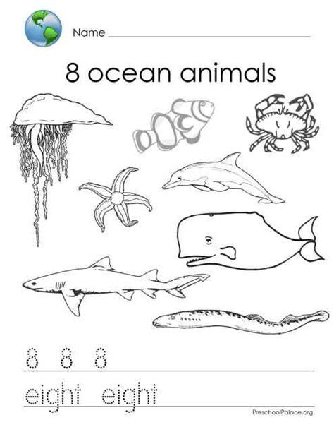 Sea Animals Worksheet For Kindergarten  Under The Sea Worksheets Amazing Ocean 29 Free Esl
