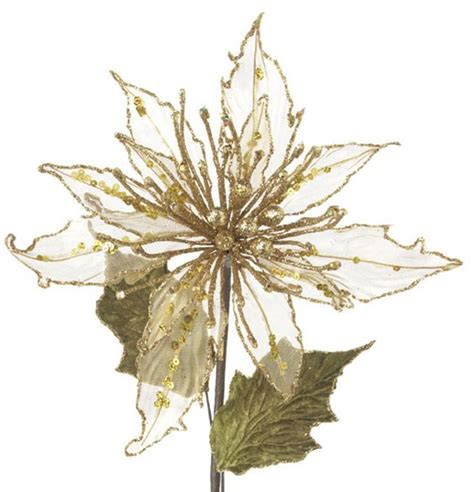 gold poinsettia by raz imports the weed patch
