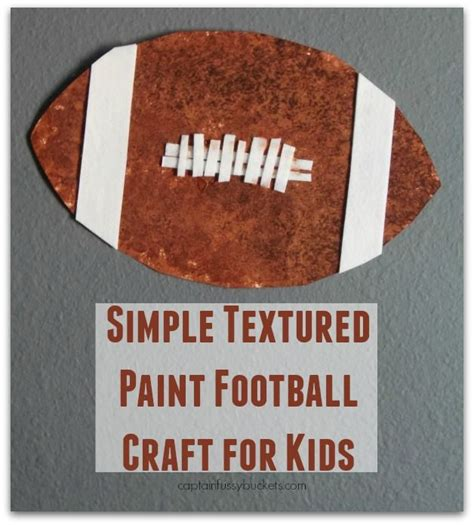 simple textured paint football craft for for 334 | 76ab2da2531a2a6c368cce37c874d270 classroom crafts preschool crafts